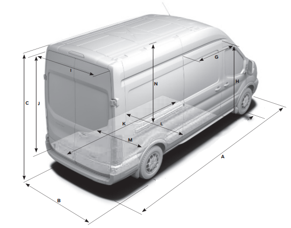 Dimensions of the van